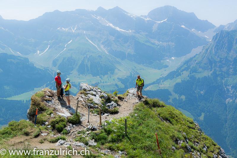 Klettersteig Zittergrat : Klettersteig brunni rigidalstock